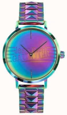 Jean Paul Gaultier 悪い女の子紫の虹の効果の金属の腕時計 JP8505706