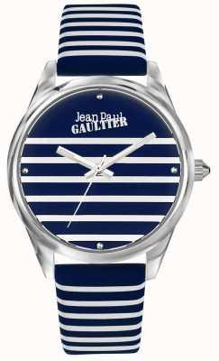 Jean Paul Gaultier ネイビーレディースストライプウォッチレザーストラップ JP8502414