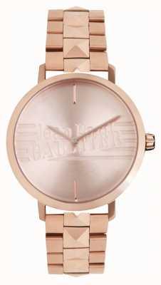 Jean Paul Gaultier 女性悪い女の子が金色のトーンのブレスレットの時計をバラ 8505701