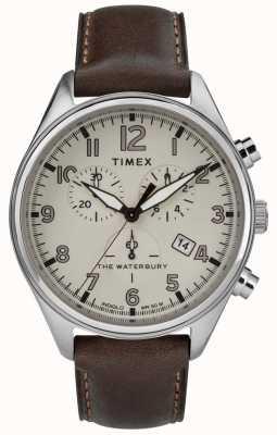 Timex メンズウォーターベリー伝統的なタンクロノレザーレザー TW2R88200