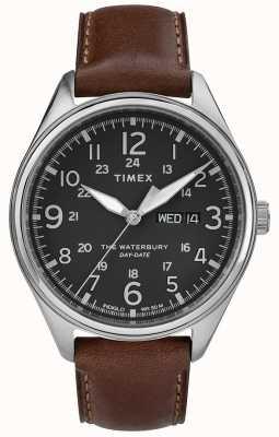 Timex メンズウォーターベリーの伝統的な日の日付はブラックブラウン TW2R89000