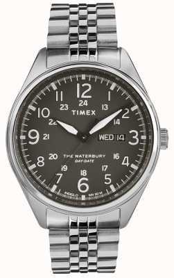 Timex メンズウォーターベリーの伝統的な日の日付黒鋼 TW2R89300