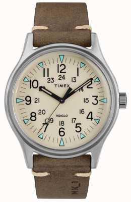 Timex メンズmk1 sst chrono 40mmケースブラウンレザーストラップ TW2R96800