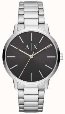 Armani Exchange メンズステンレススチール腕時計ブラックダイヤル AX2700