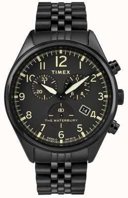 Timex ウォーターベリー伝統のクロノグラフブラックウォッチ TW2R88600D7PF