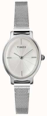 Timex レディースミラノウォッチ|オーバルダイヤル|ステンレススチールメッシュストラップ TW2R94200D7PF