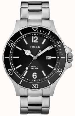 Timex 男性のハーバーサイド2トーンシルバー&ゴールドブレスレットブルーダイヤル TW2R64700D7PF