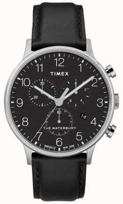 Timex メンズウォーターベリークラシッククロノグラフウォッチブラックストラップ TW2R96100D7PF