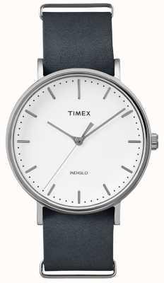 Timex フェアフィールドブラックストラップ3ハンドウォッチ TWF3C8140UK