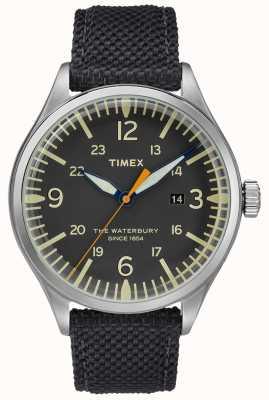 Timex ウォーターベリー伝統的なステンレススチールブラックの時計 TWF3C8150UK