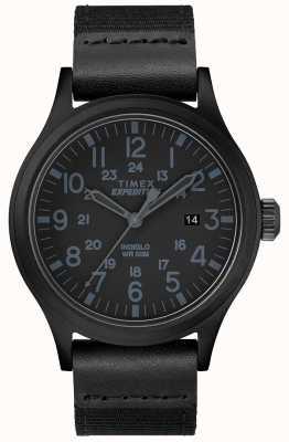 Timex 遠征スカウトウォッチブラックファブリックストラップ TW4B14200D7PF