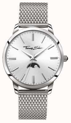 Thomas Sabo メンズ反乱心の精神moonphase腕時計シルバーメッシュ WA0324-201-201-42