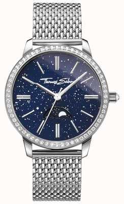 Thomas Sabo レディースグラムと魂moonphase腕時計シルバーメッシュブレスレット WA0326-201-209-33