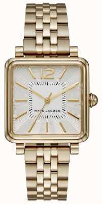 Marc Jacobs レディース腕時計ゴールドトーンブレスレットスクエアダイヤル MJ3462