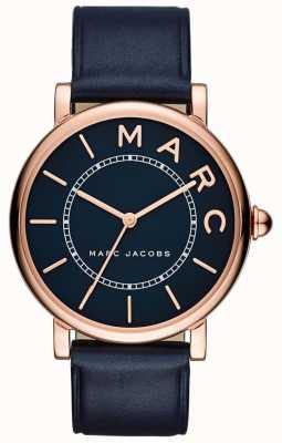 Marc Jacobs レディースmarc jacobsクラシックウォッチネイビーレザー MJ1534