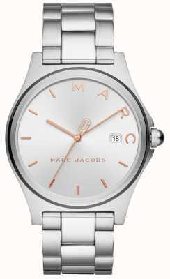 Marc Jacobs レディースヘンリー時計シルバートーン MJ3583