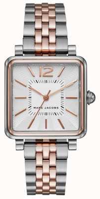Marc Jacobs レディース腕時計レディース2トーンブレスレットスクエアダイヤル MJ3463