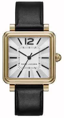 Marc Jacobs レディース腕時計ブラックレザースクエアダイヤル MJ1437