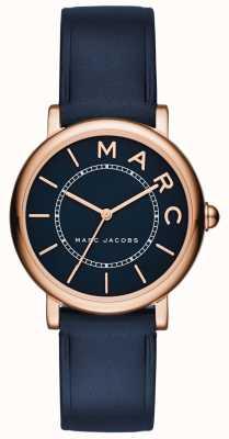 Marc Jacobs レディースmarc jacobsクラシックウォッチネイビーレザー MJ1539
