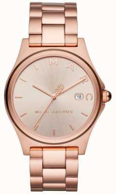 Marc Jacobs レディースヘンリーの腕時計は、ゴールドトーンをバラ MJ3585