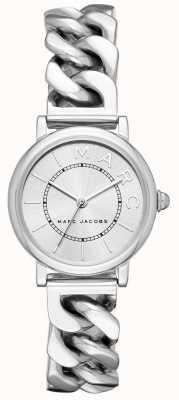 Marc Jacobs レディースmarc jacobsクラシック時計シルバートーン MJ3593