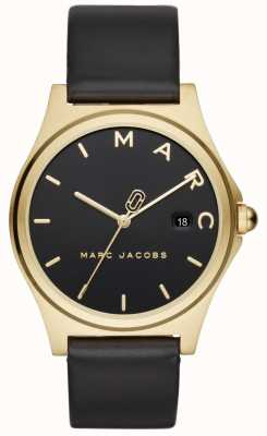 Marc Jacobs レディースヘンリーウォッチブラックレザーストラップ MJ1608