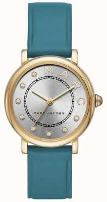 Marc Jacobs レディースmarc jacobs classic watch teal leatherr MJ1633