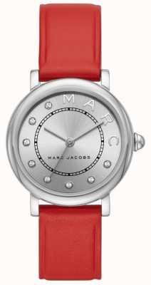 Marc Jacobs レディースmarc jacobsクラシックウォッチレッドレザー MJ1632