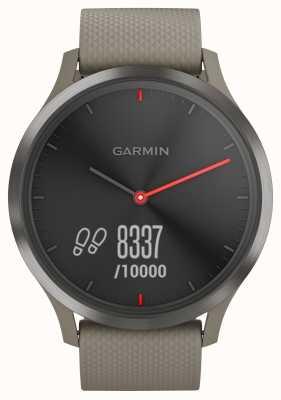 Garmin Vivomove hrアクティビティトラッカー砂岩ストラップブラックダイヤル 010-01850-03
