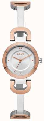 DKNY レディースシティリンクステンレススチールブレスレットウォッチ NY2749