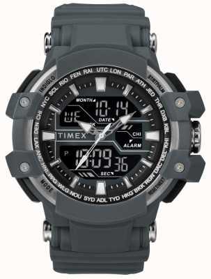 Timex メンズ50mmダークグレーケースダークグレーストラップ TW5M22600