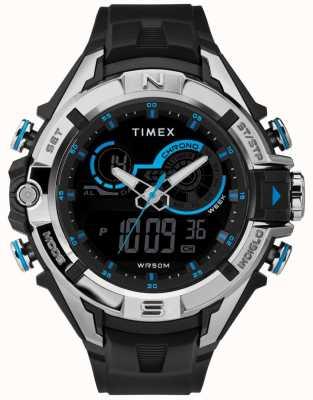 Timex メンズ47mmブラックケースクロムリングブラックストラップ TW5M23000