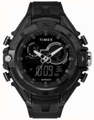 Timex メンズ47mmブラックケースブラックリングブラックストラップ TW5M23300
