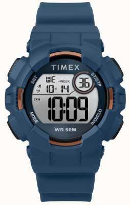 Timex Womens 44mmブルーケースブルーストラップ TW5M23500