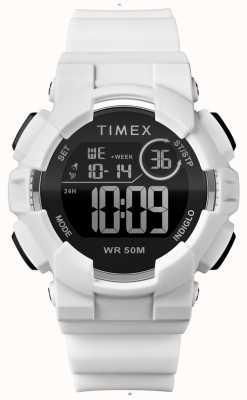 Timex レディース44mmホワイトケースホワイトストラップ TW5M23700
