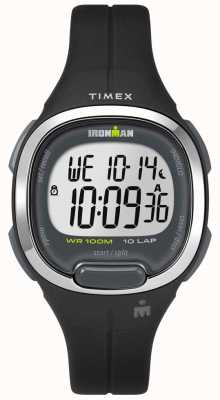 Timex レディースironman essentials 10 black and chrome TW5M19600
