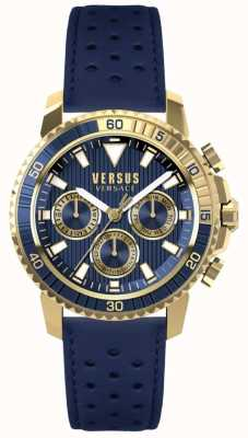 Versus Versace メンズaberdeenブルーレザーストラップブルーダイヤル S30020017