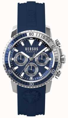 Versus Versace メンズaberdeenブルーシリコンストラップブルーダイヤル S30040017