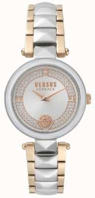 Versus Versace 女性用コベントガーデンツートーンクリスタルウォッチ SPCD250017