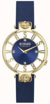 Versus Versace |レディース|クリステンホフ|ブルーダイヤル|ブルーレザーストラップ| SP49020018