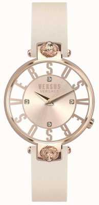 Versus Versace レディースクリスペンホフローズゴールドダイヤルピンクレザーストラップ SP49030018