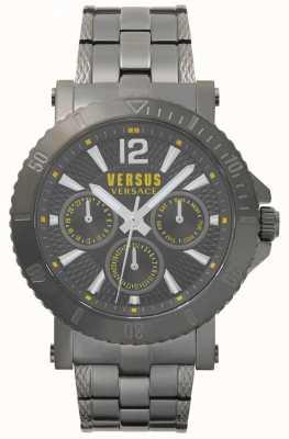 Versus Versace メンズスティーンバーググレーダイヤルグレーステンレススチールブレスレット SP52050018