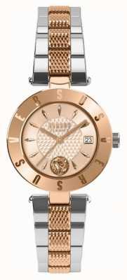 Versus Versace レディースロゴゴールドダイヤル2トーンブレスレット SP77260018