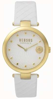 Versus Versace レディースバフベイホワイトダイヤルホワイトレザーストラップ SP87020018