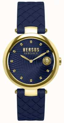 Versus Versace レディースバッファローベイブルーダイヤルブルーレザーストラップ SP87030018