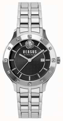Versus Versace レディースブラッケンフェルブラックダイヤルステンレススチールブレスレット SP46010018