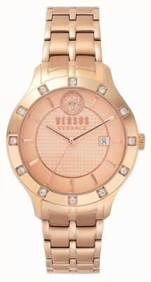 Versus Versace レディースワッペンフェルローズゴールドダイヤルローズゴールドPVDブレスレット SP46040018