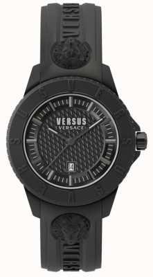 Versus Versace 東京rブラックダイアモンドブラックシリコンストラップ SPOY230018