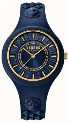 Versus Versace ファイアーアイランドブルーシリコンストラップブルーダイヤル SOQ090016