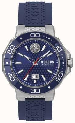 Versus Versace メンズカルクベイステンレススチールブレスレットブルーダイヤル VSP05020018